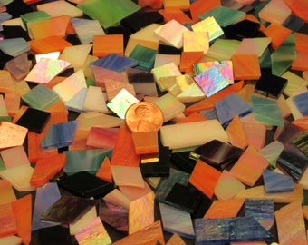 Mosaic Tiles - Iridescent Stained Glass Confetti - Multi-colored