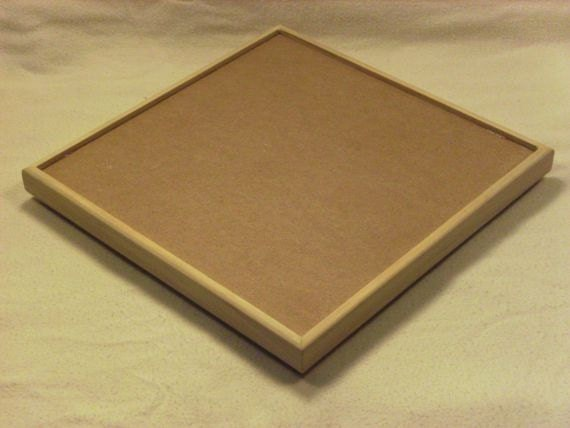 8.5 Inch Square Frame for Stained Glass Mosaic - MDF with Clear Pine Trim