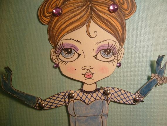 Chic, big eyed, Art Paper Doll