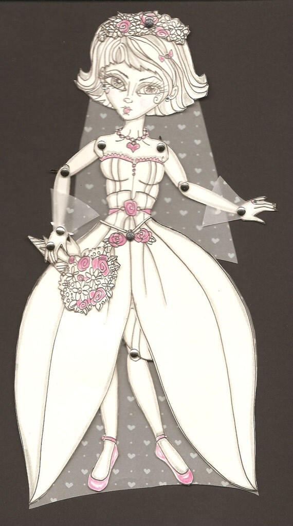 June, the Ghost Bride,  Art Paper Doll
