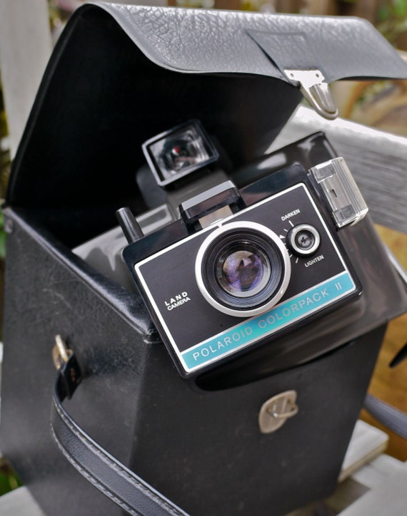 Working Vintage Polaroid Colorpack II Instant Camera with Case, New Film, Batteries, and Cold-clip