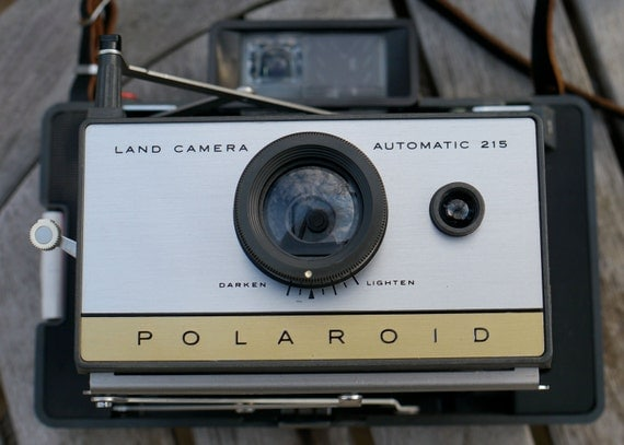 Working Polaroid Land Camera 215 Instant Photo with New Film