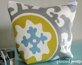Small Makeup and Cosmetic Bag in Suzani Summerland by Premier Prints
