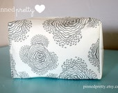 ON SALE - Large Makeup and Cosmetic Bag in Amy Butler Floating Buds Grey