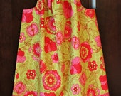 Pink and Green Pillow Case Dress 5t