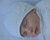 Crocheted 'Camille' Baby Girl Flapper Hat NB to 12M, Custom colour, Made to Order