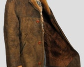 Large size Sheepskin coat leather jacket sheep fur winter coat shearling (pre owned)