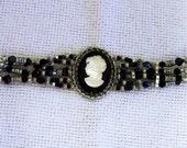 Authentic Clear CAMEO Designer Bracelet-STUNNING
