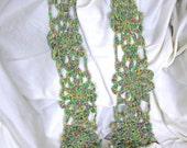 Multi-color Crochet Granny Flower Motif Designer Scarf