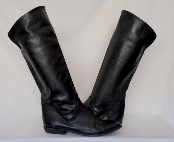 10 Vintage Bandolino Slouchy Foldover Knee HIgh Pirate Boots 9.5