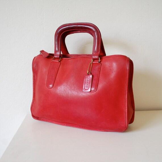 Coach Vintage Cashin Speedy Brief Bag - Lipstick Red  - So Rare