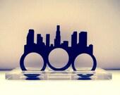 Los Angeles Skyline Three Finger Ring