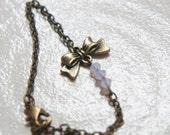 Princess Bow Bracelet - Pinkish White - Simple and Elegant - Swarovski Crystal
