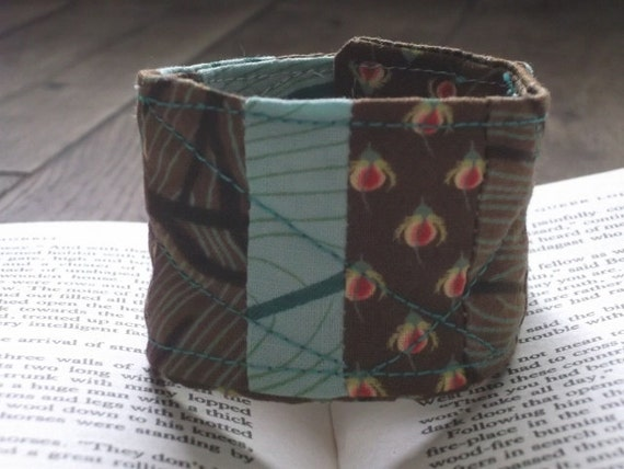 Fabric, modern quilted cuff.