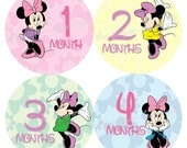 Minnie Mouse Monthly Onesies Stickers, Baby Stickers for Onesies, Month Stickers