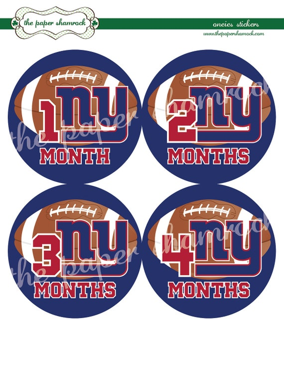 Pick your team - Football - Baby Monthly Milestone Stickers, Baby Stickers, Monthly Stickers, Month Stickers, First Year Belly Sticker