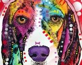 Beagle Dog Original Art Painting
