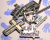 Pro life charm holder necklace religious life is beautiful piece