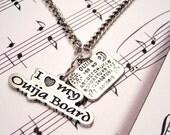 I love my Ouija board charm necklace