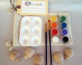 DIY Wooden Ladybugs and Paint Kit in a Bag Arts and Crafts for Kids