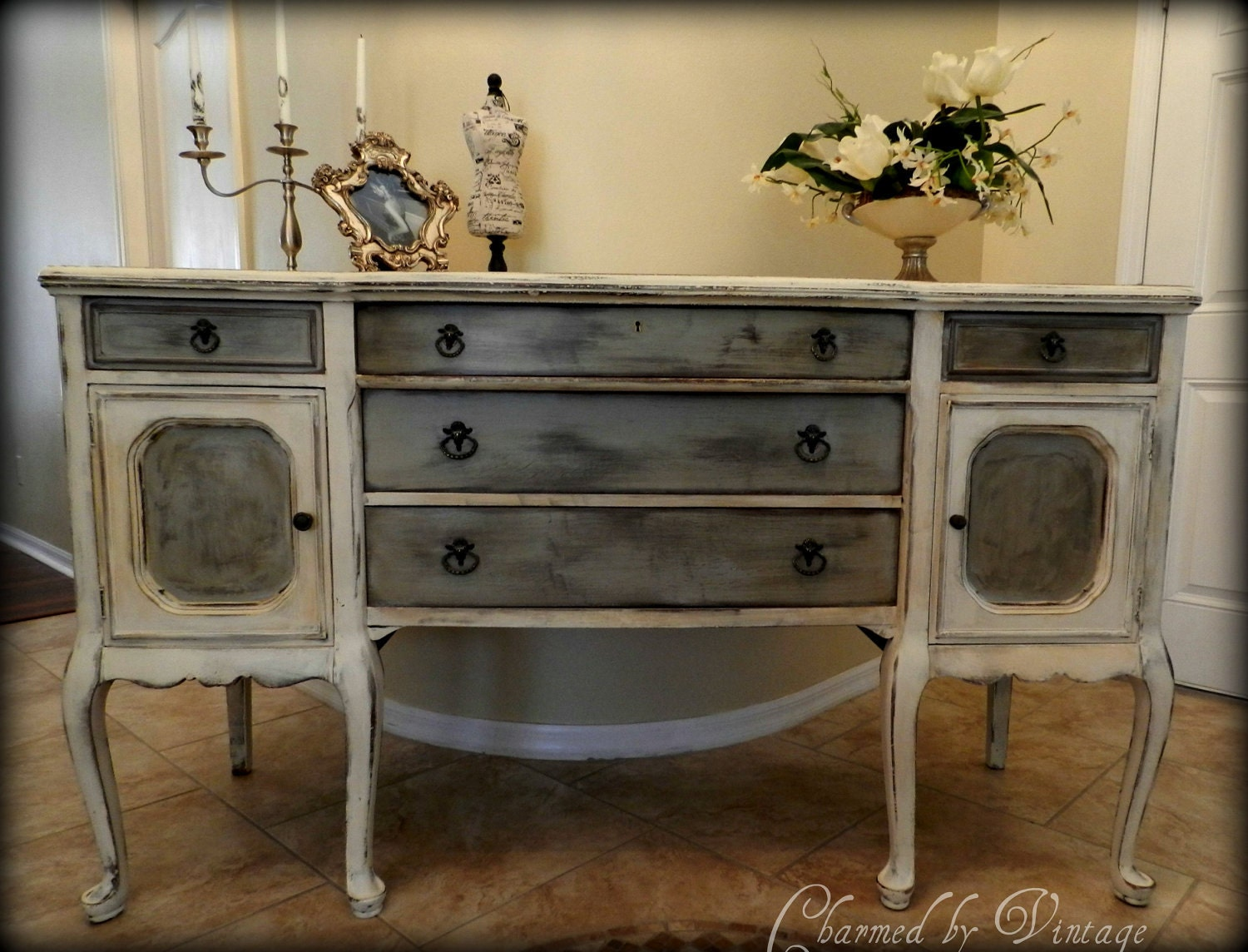 Painted Buffet Sideboard Of Antique Hand Painted Buffet Sideboard Reserved For Lisa