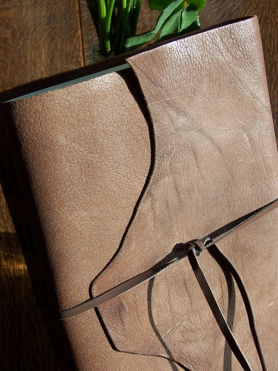 Large Rugged Leather Wraparound Journal