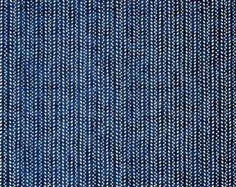 "Japanese Chiyogami Paper - Design ""Punktgewebe auf dunkelblau"""