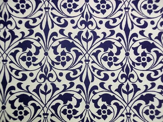 "Italian Paper - CARTA VARESE Design B193 - ""Decorative Ornament blue"""