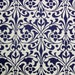 "Italian Paper - CARTA VARESE Design B193 - ""Decorative Ornament blue"""