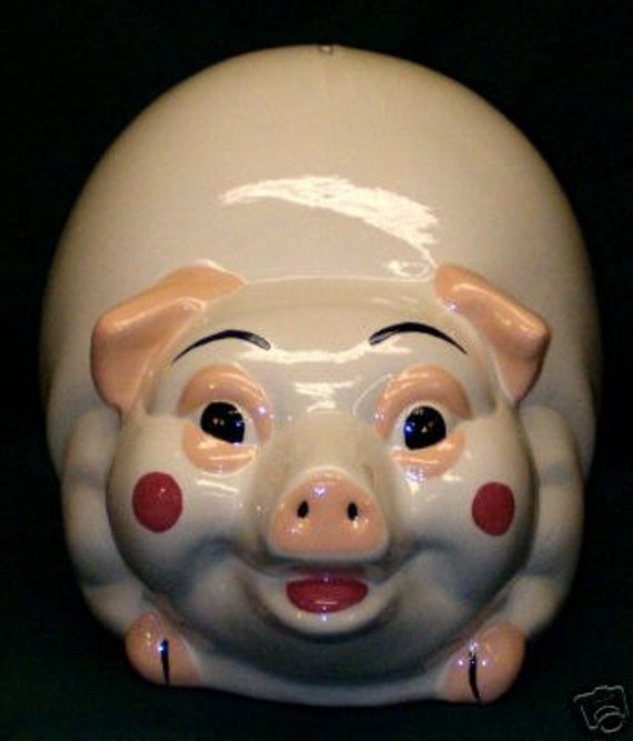 Ceramic Piggy Bank Extra Large 10x14 Handpainted New