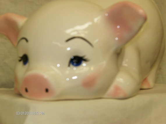 """Butt-Up Piggy Bank- Large -12""""L-Ceramic-Must See"""