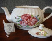 Summer Price with Free Shipping - Arthur Wood & Son Pink Cabbage Rose Teapot 6442