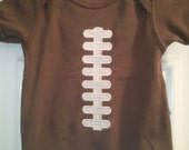 Adorable Appliqued Football Onesie