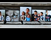 Personalized Wood Photo Letter Blocks - Made to Order