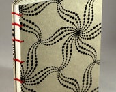 Small Black and White Hardcover Coptic Notebook/Journal