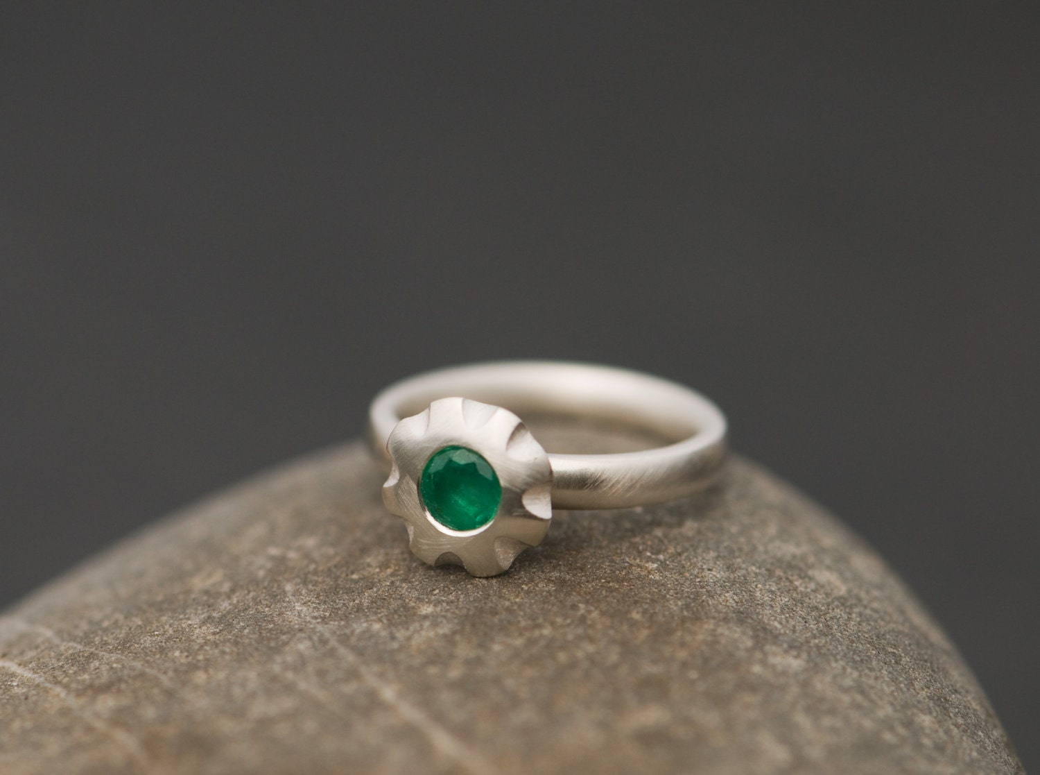 emerald ring solitaire emerald ring green gemstone ring
