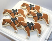 Equestrian Themed Vanilla Sugar Cookies with Horses, Riding Boots, and Polo sticks for Equestrian themed event