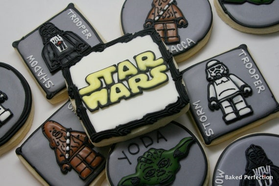 Star Wars Lego Collection Hand Decorated Sugar Cookie Favors