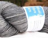 Jewel Fingering Weight Sparkle Sock Yarn 'Pewter'