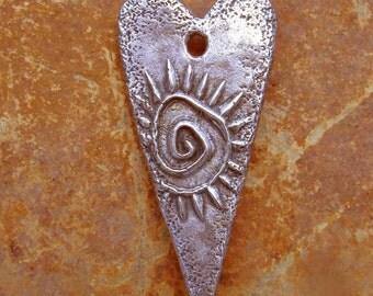 WB Spiral heart charm