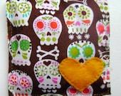 Sugar Skull lavender SACHET designer fabric gift day of the dead