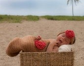Newborn BABY COCOON Set, 2 Piece (Cocoon and Headband) - Great PHOTOGRAPHY Prop - Great Gift