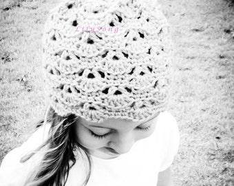 LilySong MACY HAT Crochet PATTERN  (in 6 sizes)
