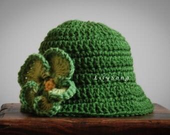 LilySong CHLOE HAT Crochet PATTERN  (in 5 sizes)