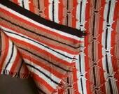 Vintage handmade crocheted Southwestern Afghan