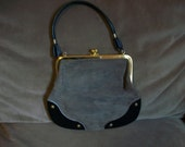 Vintage Suede and Leather Purse