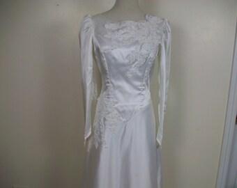 Vintage Satin Wedding Dress