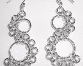 Chain Maille Serpentine Earrings