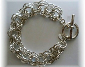 Chain Maille Three in Three Bracelet