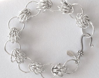 Chain Maille Sterling Silver Trizantine Bracelet